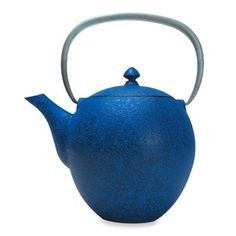 Buy Primula® Sakura Cast Iron Tea Pot with Infuser in Blue from Bed Bath & Beyond