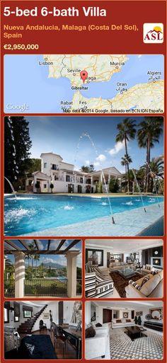 Villa for Sale in Nueva Andalucia, Malaga (Costa Del Sol), Spain with 5 bedrooms, 6 bathrooms - A Spanish Life Murcia, Puerto Banus, Andalucia, Tropical Garden, Luxury Villa, Swimming Pools, Spanish, Mansions, Bedroom