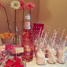 Cute flowers 21st decorative table - pink and white decorations