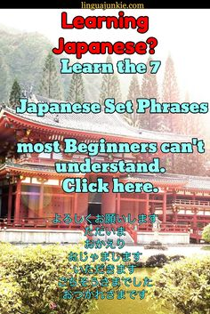 Learning Japanese? / linguajunkie.com / Learn the 7   Japanese Set Phrases  most Beginners can't und...