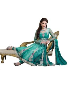 Green Lace Work Salwar Suit  To know more or buy, please click Below:- http://www.ethnicstation.com/green-lace-work-salwar-suit-ro1053  #LaceWorkSalwarSuit #DiscountSale