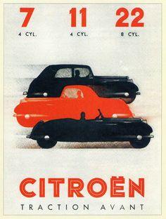 Citroën Traction Avant 7CV, 11CV, 22CV (infographic precursor)