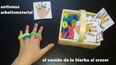 Autismus Arbeitsmaterial: Montessori: Hände und Gummibänder