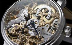 """Kudoke """"Springendes Pferd"""". #kudoke #germandealer #watch #watches #watchesofinstagram #designwatch #uhr #uhren #designuhren #handmade #handmadewatch #madeingermany #skeleton #skeletonwatch #watchpics #watchcollector #hamburg #bergedorf #jeankoch"""