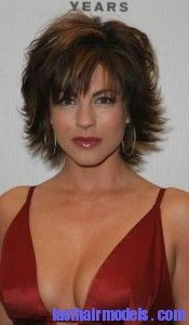 Medium Length Layered Flip Hairstyles | hairstyle lisa rinna short flippy into pigtails hairstyle war cute