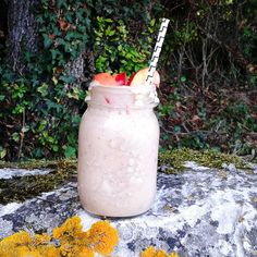 Peach coconut smoothie : blend 5 peaches, 2 bananas, 1 cup coconut milk, and smile ;)