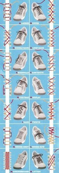 to School} Great how to graphic on how to tie shoe laces Cool ways to lace up your shoes! Cool ways to lace up your shoes! Ways To Lace Shoes, How To Tie Shoes, Your Shoes, Men's Shoes, Shoes Men, Dress Shoes, Nike Shoes, Zapatos Shoes, Fall Shoes