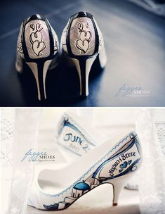 hand-painted bridal shoes