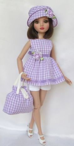 LILAC TIME OUTFIT for Ellowyne Wilde, by ssdesigns via eBay, SOLD 5/9/15  $51.99
