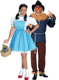 Dorothy and Scarecrow Wizard of Oz Couples Costumes - Party City- very cute couples costume idea