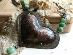 Repoussé Heart Necklace
