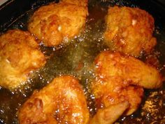 How to fry chicken in a cast iron skillet, I think Grandma Bessie fried chicken EVERY Sunday.