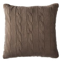 Threshold™ Oversized Cable Knit Toss Pillow - (Target)    Want this for our new living room