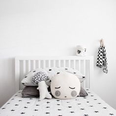 Black and white serenity, sweet for a child's room.  #estella #kids #decor