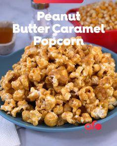 Peanut Butter Popcorn, Salted Caramel Popcorn, Vegan Caramel, Peanut Butter Recipes, Butter Toffee Popcorn Recipe, Cinnamon Popcorn, Chocolate Popcorn, Chocolate Tarts, Salted Caramels