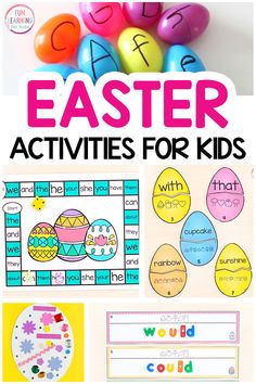Lots of fun Easter activities for kids. From math and literacy to sensory, STEM and art, these Easter activities are sure to be a hit. Easter Arts And Crafts, Easter Activities For Kids, Sensory Activities, Ten Frame Activities, Hands On Activities, Kids C, Handprint Art, Literacy, Christmas Treats