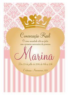 Convite virtual com o tema de realeza, princesa, coroa  para chá de bebê, nascimento, batizado, aniversário.    Envio arquivo em resolução de tela, por email para ser enviado em redes sociais e whatsapp. arquivo em .jpg