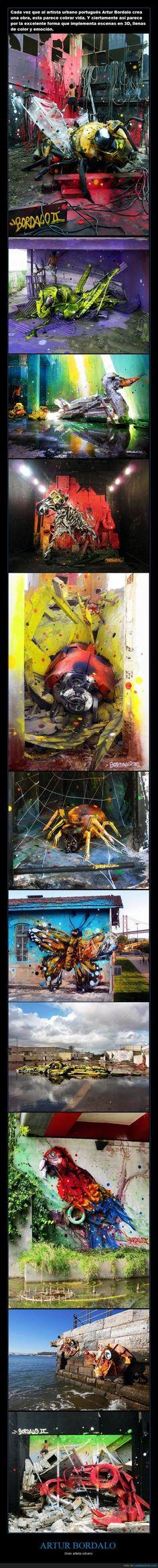 ARTUR BORDALO - Gran artista urbano