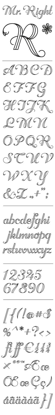 Mr Right by DTM INC, via Behance. Hate the name. Love the font.