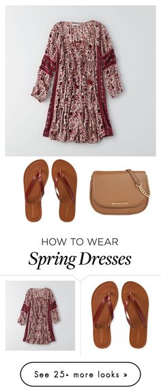 """""""Spring Break in Florida"""" by syds-fashion-4-ever on Polyvore featuring American Eagle Outfitters, MICHAEL Michael Kors, Aéropostale, women's clothing, women's fashion, women, female, woman, misses and juniors"""