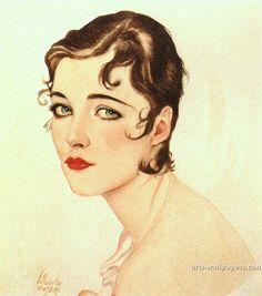 Vargas painting of Cordelia Rodgers.