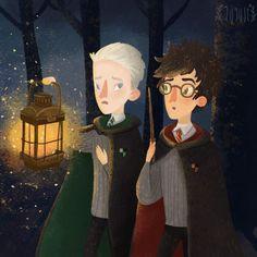 Harry Potter illustrations on Behance Fanart Harry Potter, Harry Potter Wallpaper, Harry Potter Fan Art, Harry Potter Universal, Harry Potter Fandom, Harry Potter World, Harry Potter Hogwarts, Harry Potter Illustrations, Book Illustrations
