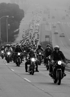 Venice Beach vintage motorcycle rally.