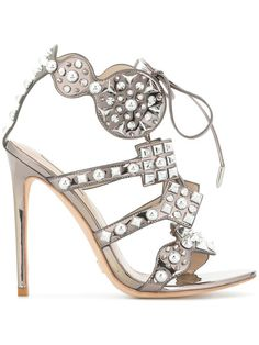 Acquista Gianni Renzi embellished sandals