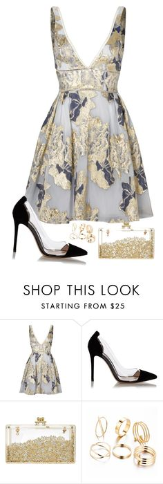 """Yei"" by thefashionguilty on Polyvore featuring Notte by Marchesa and Gianvito Rossi"