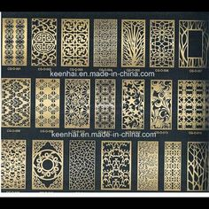 Lasercut metal screen design pattern
