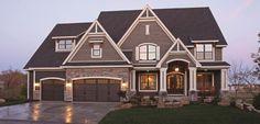 new home exterior color schemes | Two Tone Exteriors | Parade of Homes
