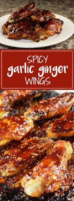 Spicy Garlic Ginger Wings are sweet, spicy, and simple, perfect for…