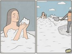 Sarcastic Illustrations By Gudim That You'll Need To See Twice To Understand Completely (New Pics) Comic Strips, Sarcasm, Humor, Funny, Anime, Laughing, Art, Letters, Illustrations