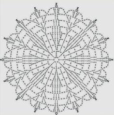 Saia branca de crochê gráfico 3