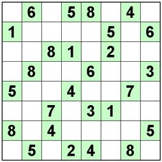 Number Logic Puzzles: 20669 - Sudoku size 8