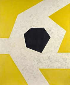 Charles Green Shaw, Black on White Against Yellow, 1968