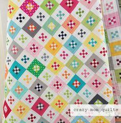 crazy mom quilts: mini nines quilt