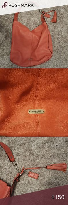 COACH Large shoulder purse! See pictures for approximate measurements. No stains, markings known. Large shoulder purse. Barely used. Coach Bags Shoulder Bags