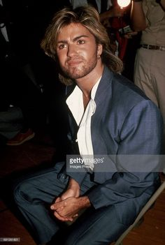 George Michael attends the Grand Re-opening of the Apollo Theater circa 1985 in New York City.
