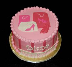 adult birthday cake for a woman who loves to shop for shoes, love it!