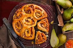 Spiced with cardamon and cinnamon just like the classic, this giant cinnamon bun recipe will definitely impress. Find more Baking recipes at Tesco Real Food. Pear Recipes Baking, Crockpot Recipes, Soup Recipes, Salad Recipes, Vegetarian Recipes, Chicken Recipes, Quick Dinner Recipes, Breakfast Recipes, Quick Meals