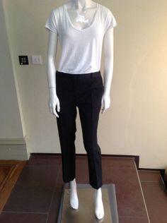 Sandro Black Cigarette Trousers Size EU40/UK10