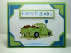 "Guneaux Designs by Beverly Polen: Stampin' Up! Countryside ""Happy Birthday"" Greeting Card"