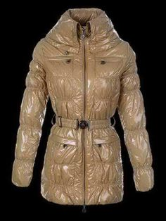 Discount Women's Moncler Polyester Nylon Jacket Kahki Slim Type