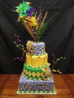 Mardi Gras Cake | Mardi gras, Frostings and Cake