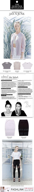 JAN N JUNE #fashlink #dubai #jannjune #blckisthenewgrn #sustainablefashion #fashion