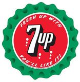 7Up Seven Up Soda Fresh Up You'll Like It Round Placa de lata