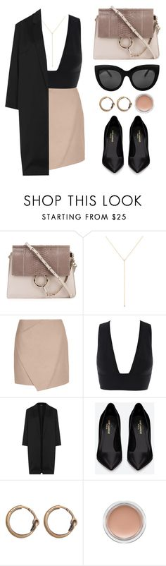 """""""YSL"""" by baludna ❤ liked on Polyvore featuring Chloé, ZoÃ« Chicco, Carven, Topshop, Yves Saint Laurent, Acne Studios, MAC Cosmetics, women's clothing, women and female"""