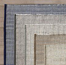 Perennials Pinstripe Outdoor Rug Restoration Hardware