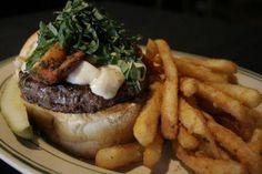 Italian Job Burger - fresh mozzarella, basil, roasted tomatoes, garlic mayo!